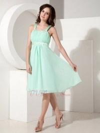 Pretty Apple Green Chiffon Junior Bridesmaid Dresses Cheap