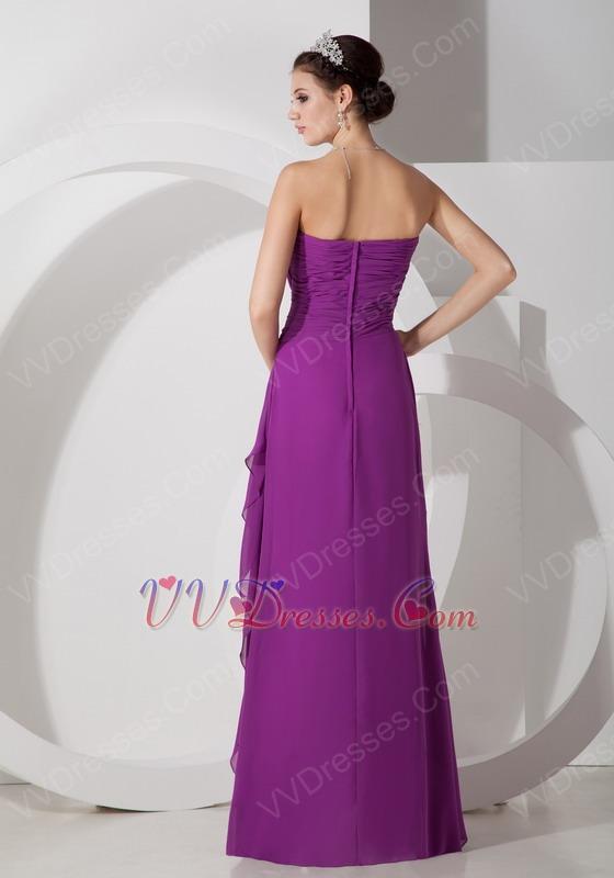 Pretty Purple Chiffon Dress For 2014 JR Bridesmaid