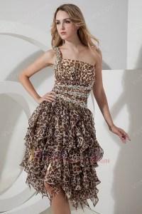 Short Leopard Print Prom Dresses - Boutique Prom Dresses