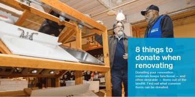 8 things to donate when renovating