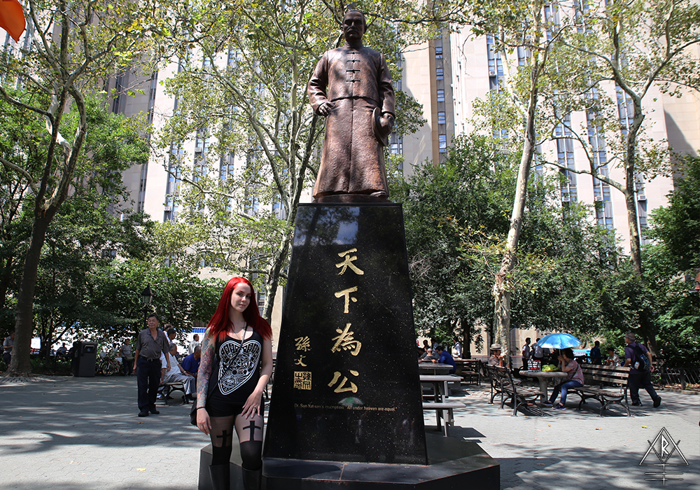 Dr. Sun Yat-sen, the Father of the Republic of China, in Columbus Park, Chinatown, NYC.