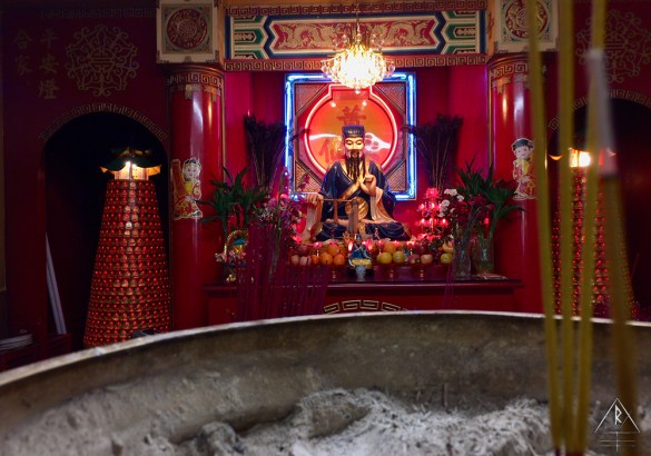 Confucian Altar in the back of a shop in Chinatown, NYC.