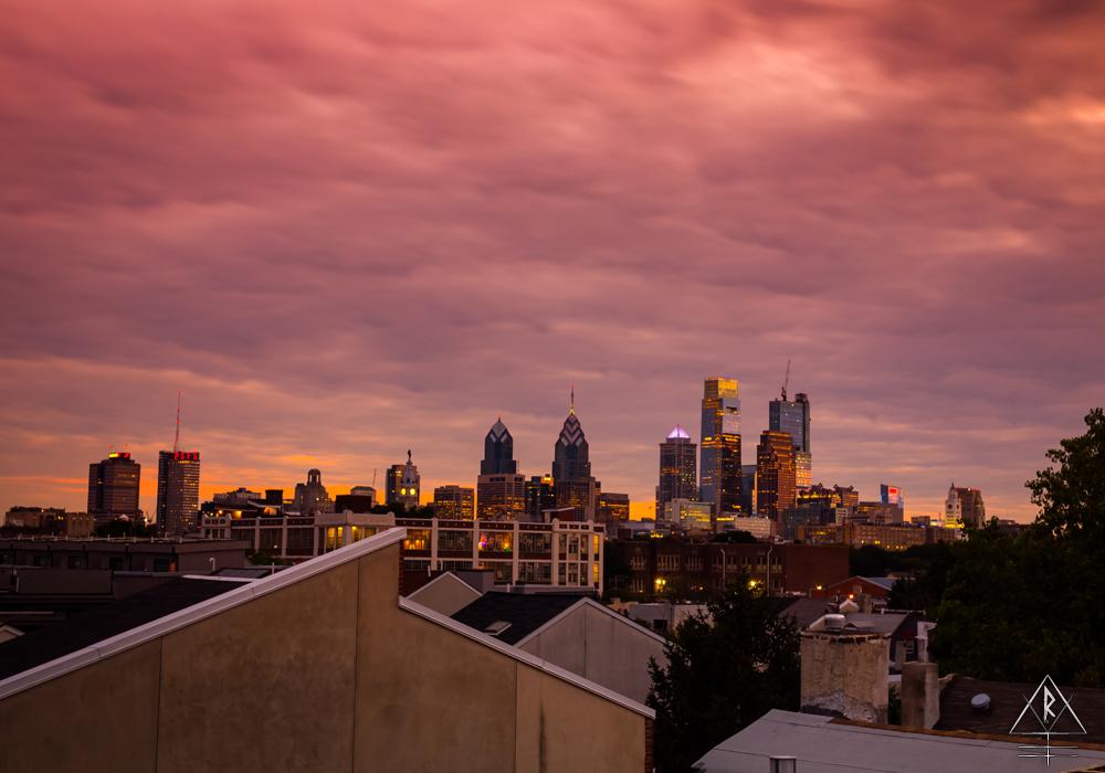 The skyline of Philadelphia, Pennsylvania.