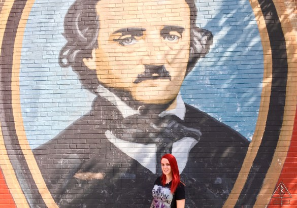 Edgar Allen Poe Street Art in Philadelphia, Pennsylvania.