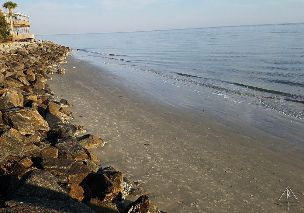 A brief look over one of the beaches on St. Simons Island, Georgia, by the fishing pier.
