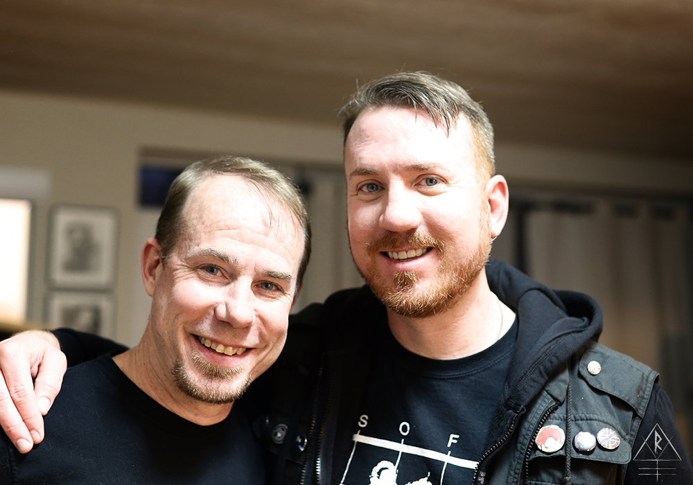 DJ Triskyl finally meeting DJ Todd in person after years of faithful listening in Toronto, Canada,