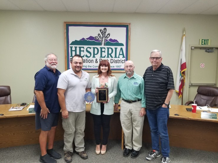 Local Hesperia Volunteers Recognized with Awards of Distinction