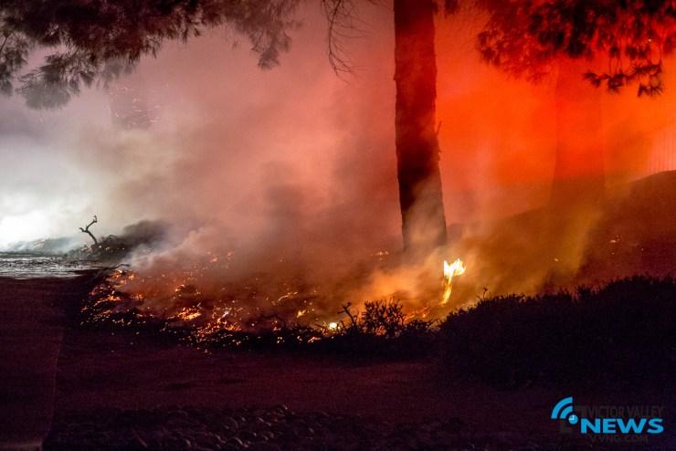San Bernardino County Firefighters knockdown multiple spot brush fires in Victorville. (Hugo C. Valdez, Victor Valley News)