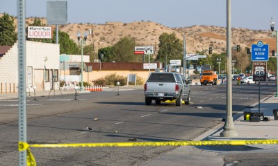 D street was closed for several hours after a pedestrian was killed. (Gabriel D. Espinoza, Victor Valley News)