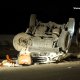 One person was ejected from the crash. (Gabriel D. Espinoza, Victor Valley News)
