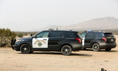 Undated File Photo of two CHP Patrol units in the desert. (Gabriel D Espinoza, Victor Valley News)