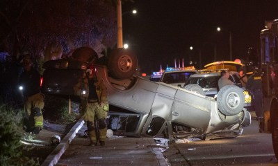 A man was airlifted after a crash in Adelanto. (Gabe Espinoza, Victor Valley News)