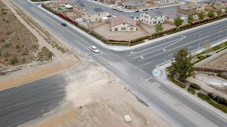 Drone photo showing La Mesa and Highway 395 in Victorville taken on 4/11/19. (Gabriel D. Espinoza, Victor Valley News)
