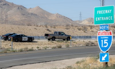 Officers stopped a pickup truck that drove the wrong way on the I-15 freeway Thursday afternoon. (Gabriel D. Espinoza, Victor Valley News Group)