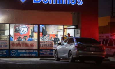 The employee was placed on stretcher and transported from inside of the business. (Gabriel D. Espinoza, Victor Valley News Group)