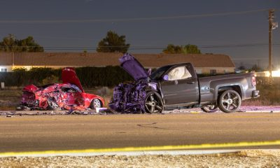 Two men were killed in a traffic accident on Bear Valley Road Tuesday night. (Gabriel D. Espinoza, Victor Valley News Group)