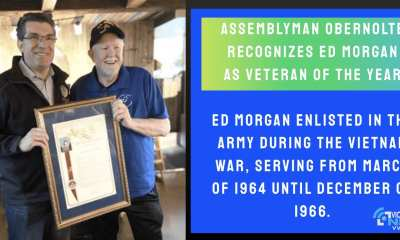 (Assemblyman Jay Obernolte with Sergeant Ed Morgan, 2019 Veteran of the Year)