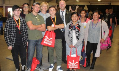 LVUSD Peter Livingston at 2018 Pathways to Success with students. (courtesy photo)