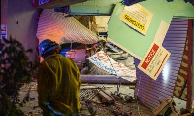SUV slams into building victorville