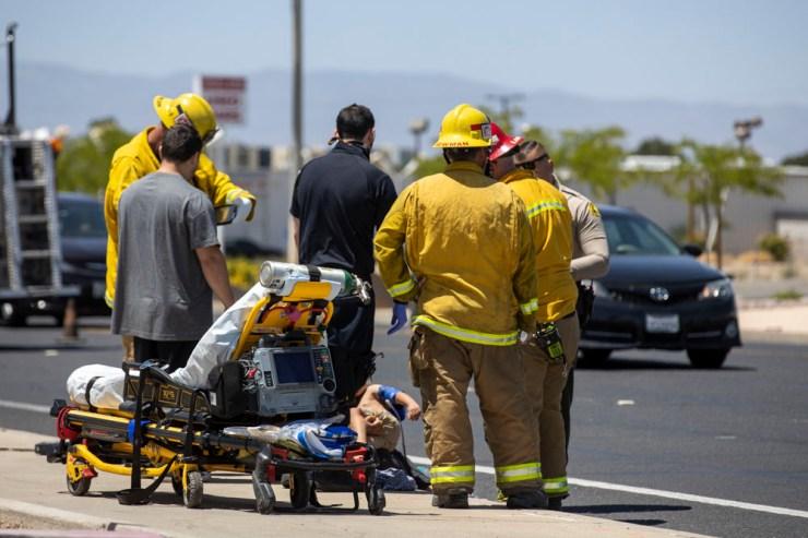 Victorville Child Injured in crash