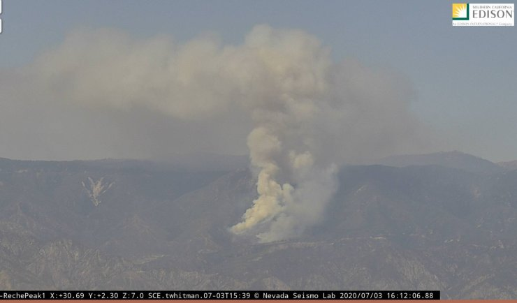 As of 4:16 PM the Mountain R Fire has grown to 50 acres and prompted mandatory evacuations.