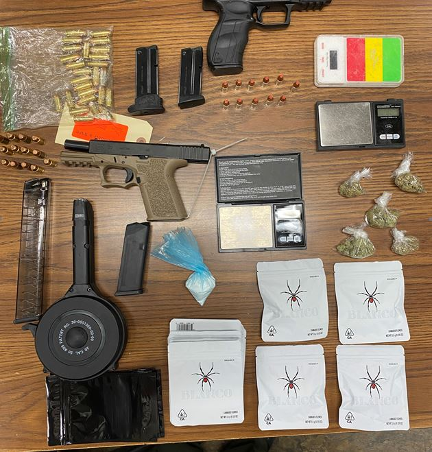 After responding to a medical aid call, deputies arrested Leon Earl for weapon and narcotics violations