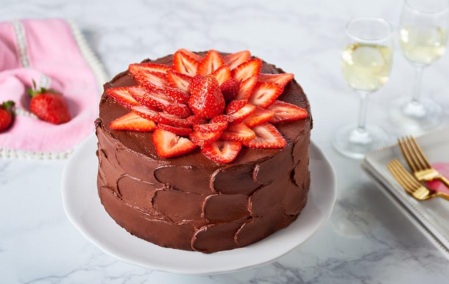 Chocolate Strawberry Cake Delicious Idea For A Homemade Chocolate