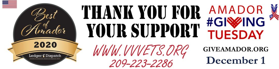 Victory Village, Best of Amador, Support us on Giving Tuesday; December 1st. Thank you for your support