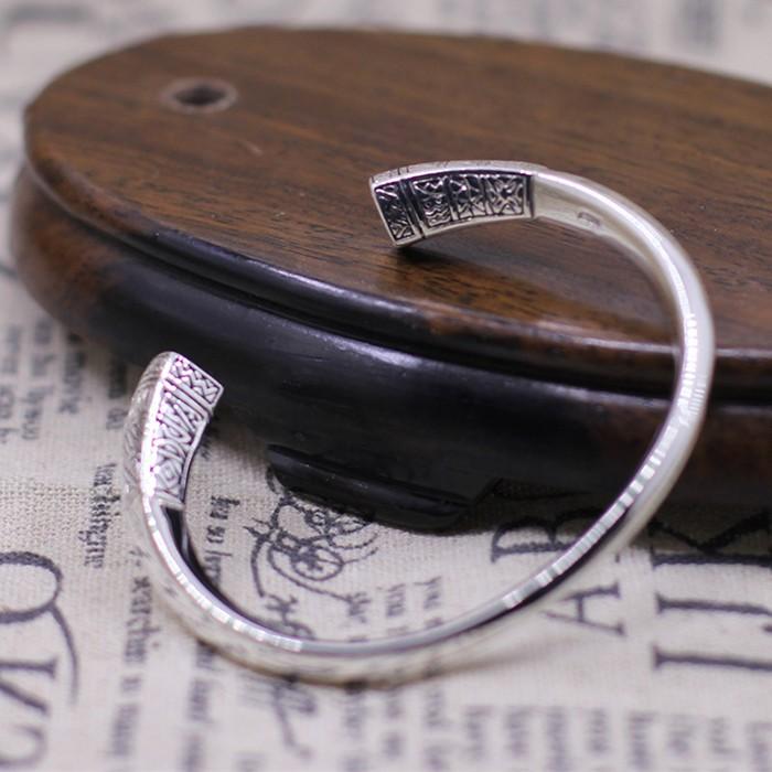 8c7752f6ffa Women's Sterling Silver Virgin Mary Twisted Cuff Bracelet - VVV Jewelry