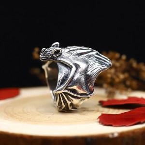 Men's Sterling Silver Cool Bat Wrap Ring