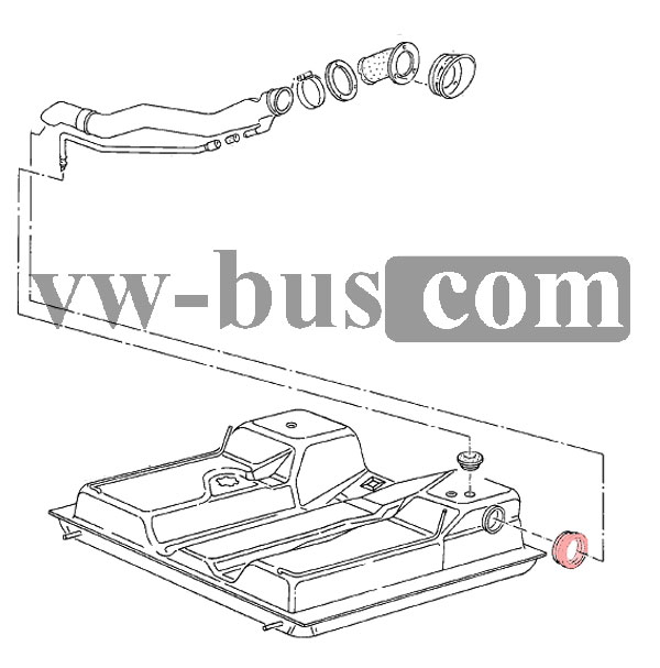 VW Bus T3 Fuel Tank Filler Neck Bottom Seal-842