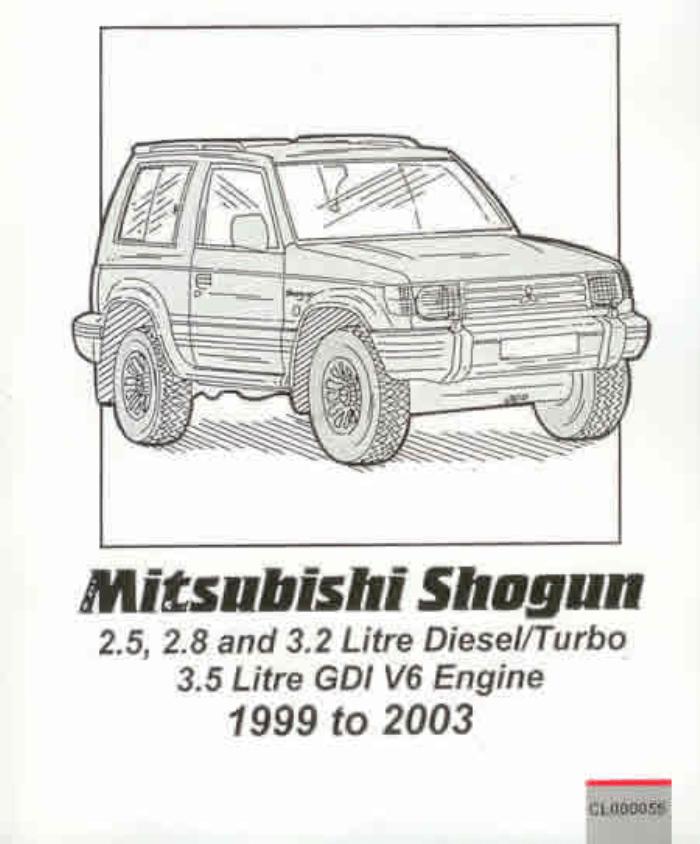 Workshop Manual Mitsubishi Pajero Shogun Montero 1999-2003