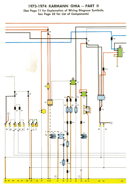 medium resolution of 1973 vw karmann ghia wiring diagram