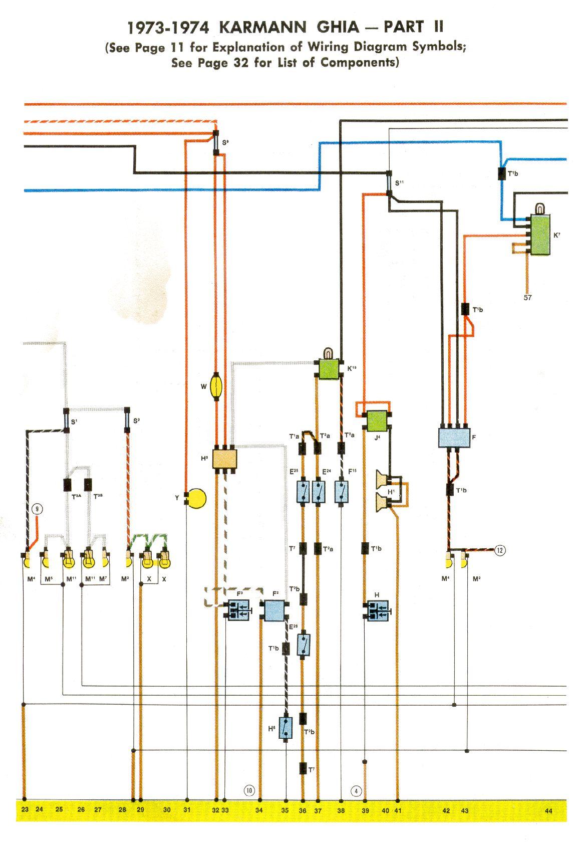 hight resolution of 1973 vw karmann ghia wiring diagram