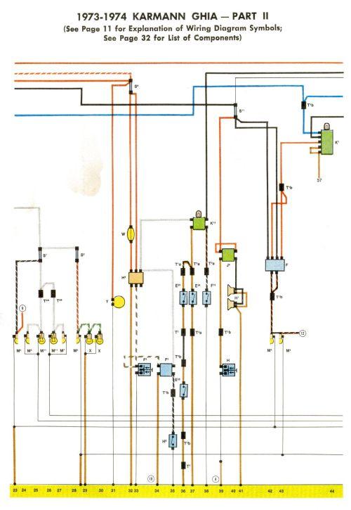small resolution of 1973 vw karmann ghia wiring diagram