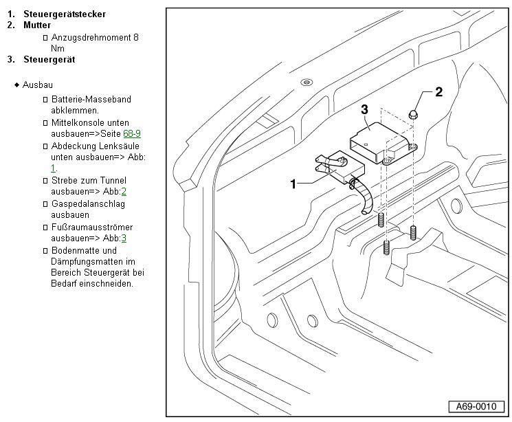 Audi A3 8l Aschenbecher Ausbauen