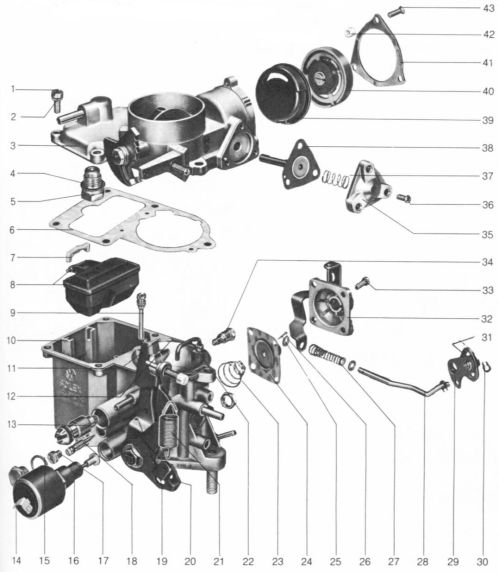 small resolution of a general exploded view of the 34pict 3 carburetor is shown in the following diagram following that is a listing of the parts giving nomenclature and part