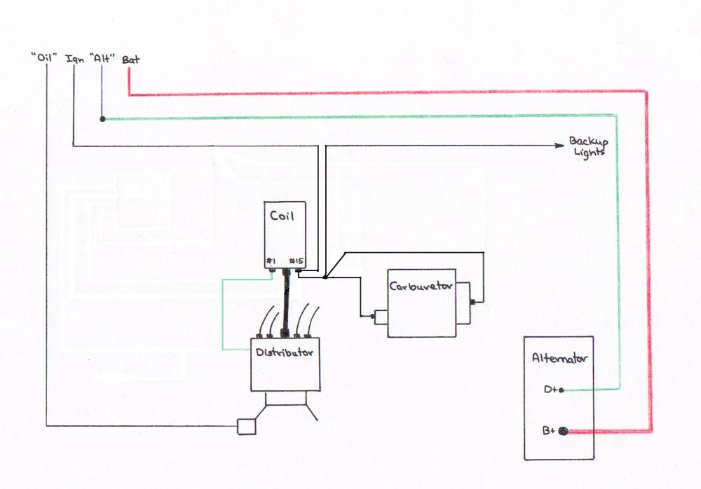 medium resolution of 1971 vw bug ignition coil wiring diagram