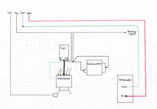 small resolution of 1971 vw bug ignition coil wiring diagram