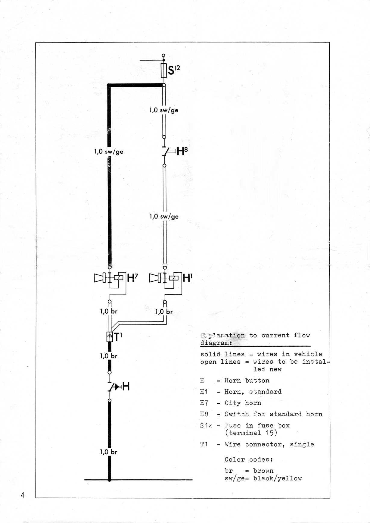 hight resolution of  zusatzstromlaufplan zusatz hupe city horn september 1973