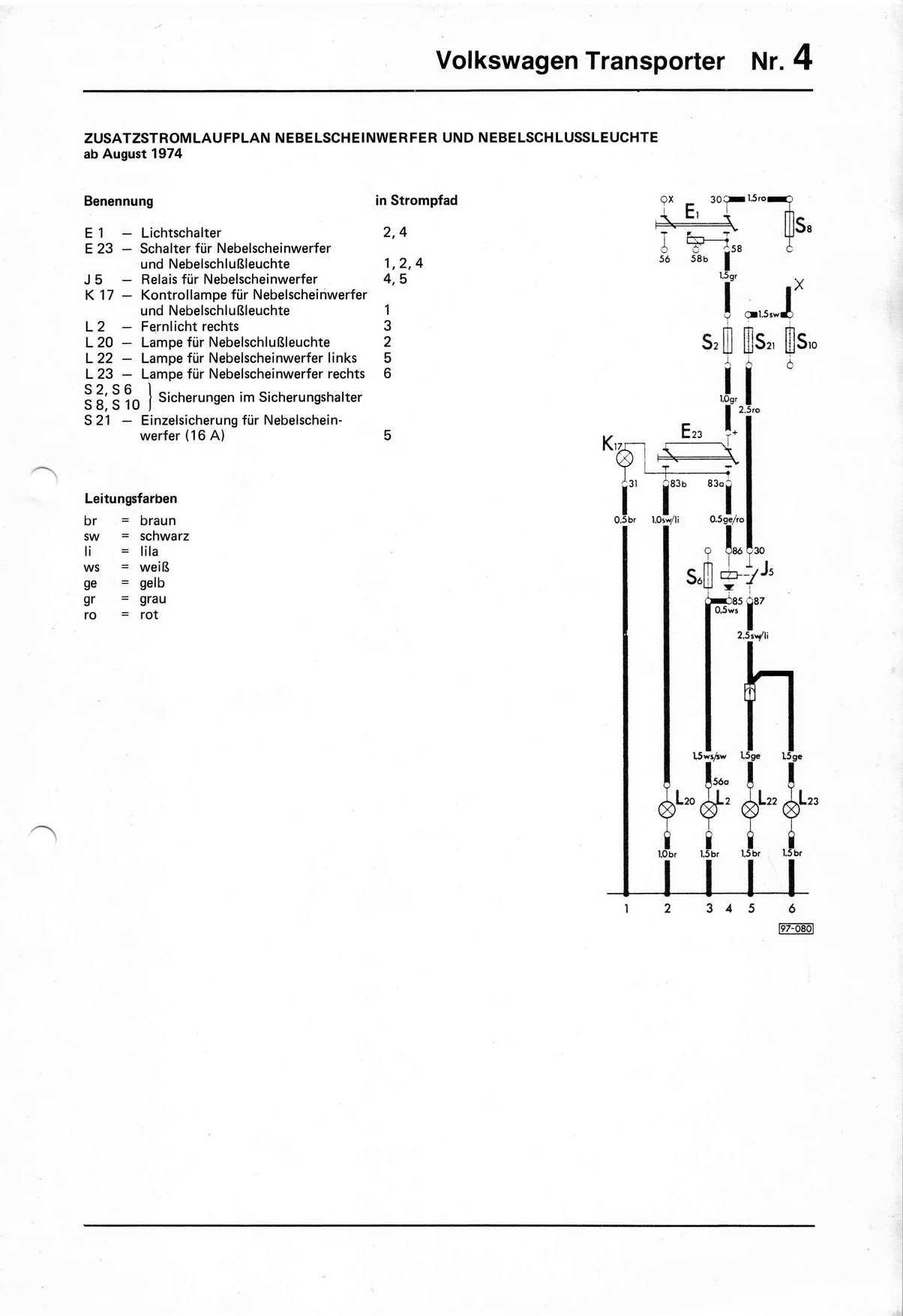 vw t2 1970 wiring diagram phase tin nebelscheinwerfer stromversorgung karmann ghia forum