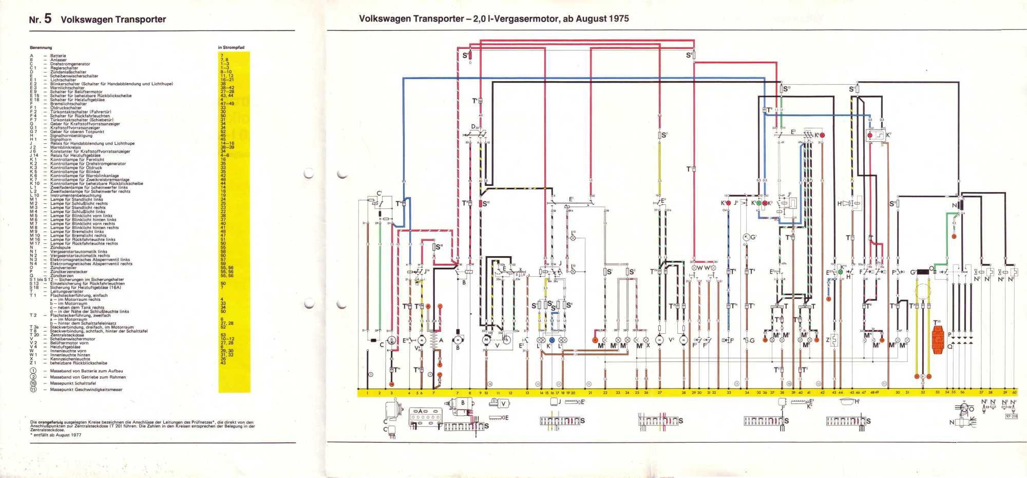 hight resolution of  volkswagen transporter 2 0 l vergasermotor ab august 1975