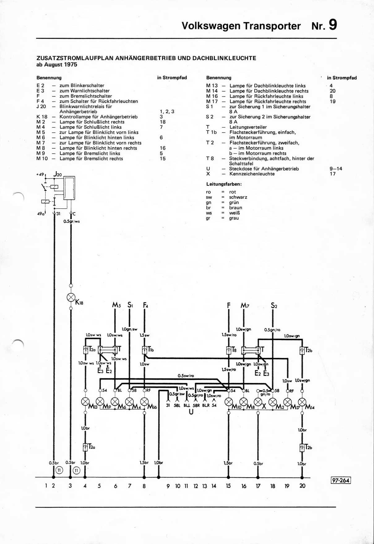 1979 vw type 2 wiring diagram