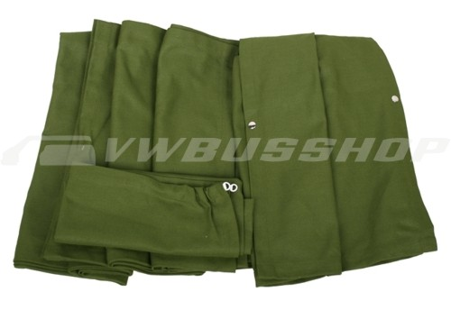 full curtain set t2 green rear curtain with fastener strap at the bottom