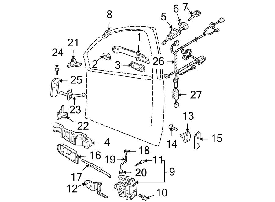 Volkswagen Beetle Door Latch Cable. VIN, Lock, Convertible