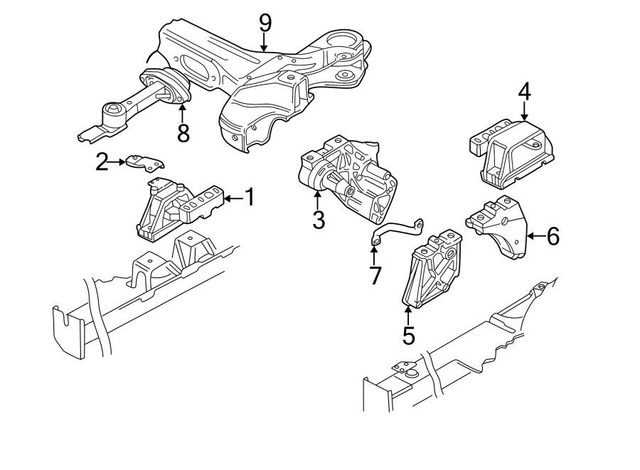 2002 Volkswagen Beetle Bracket. Transmission. Mount