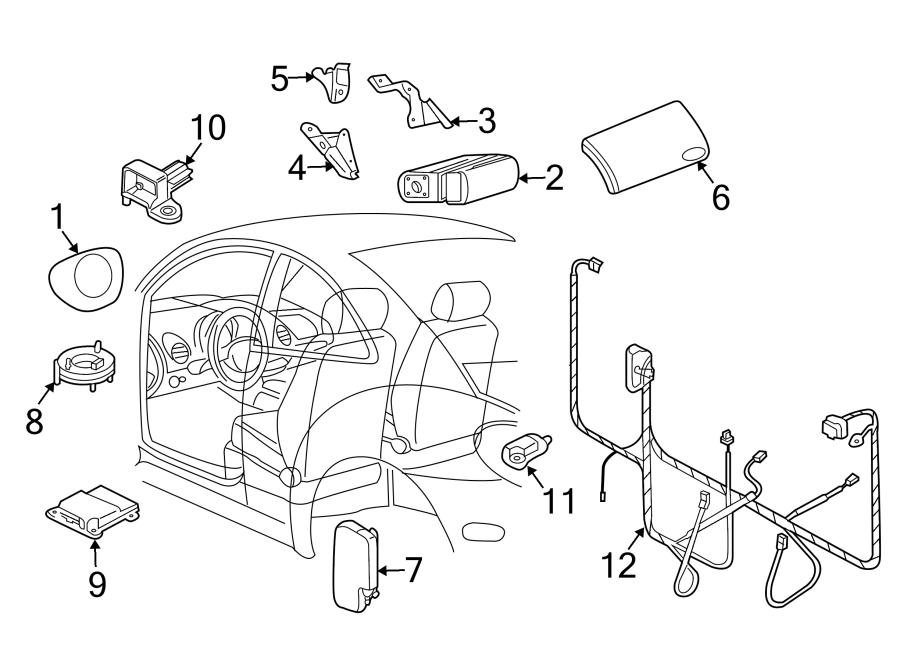 2007 Volkswagen Beetle Convertible Air Bag Clockspring
