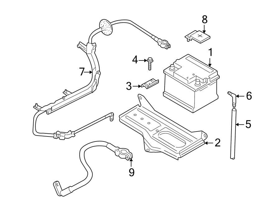 Volkswagen Passat Battery Hold Down. RS4. Clamp, Holder
