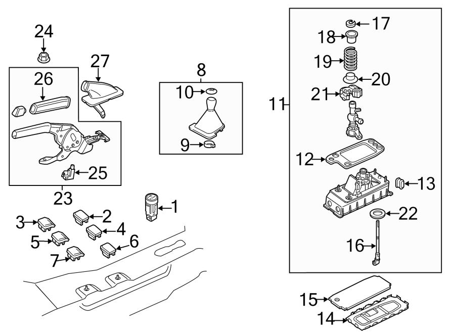 2015 Volkswagen Passat Power switch. Start button. Levers