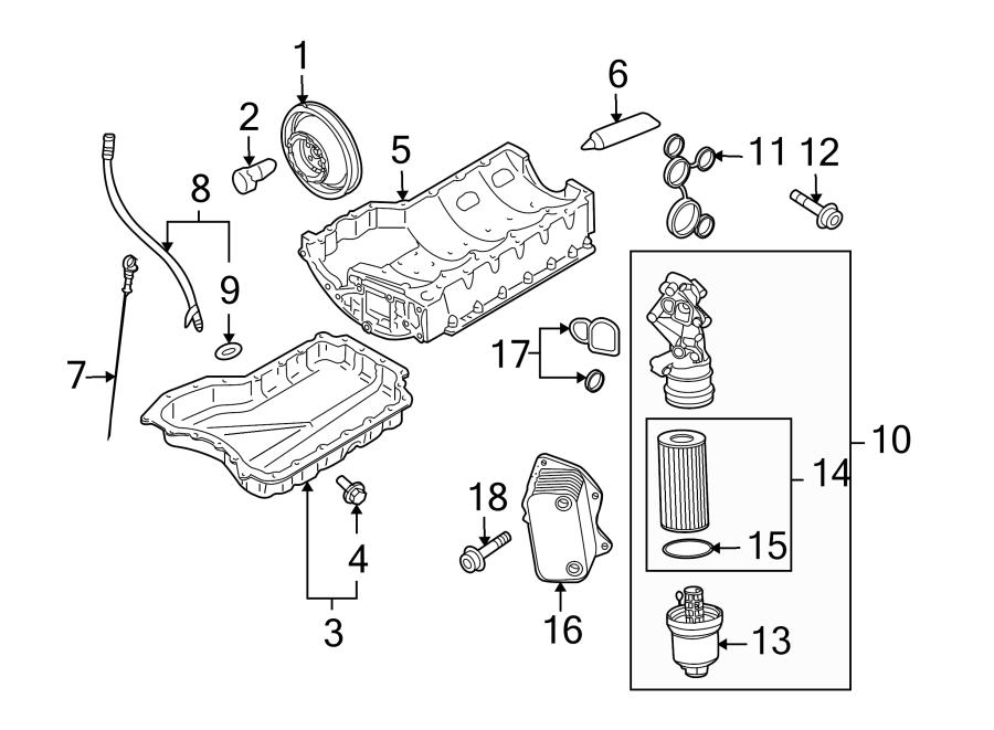2014 Volkswagen Jetta Engine Oil Filter Adapter